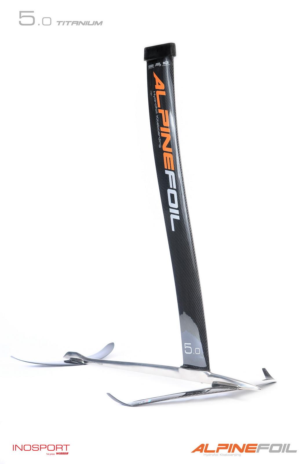 Kitefoil alpinefoil carbon titanium 1 3 logo