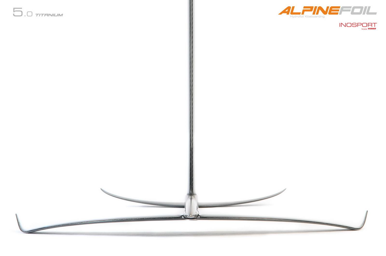 Kitefoil alpinefoil carbon titanium 1 8 logo