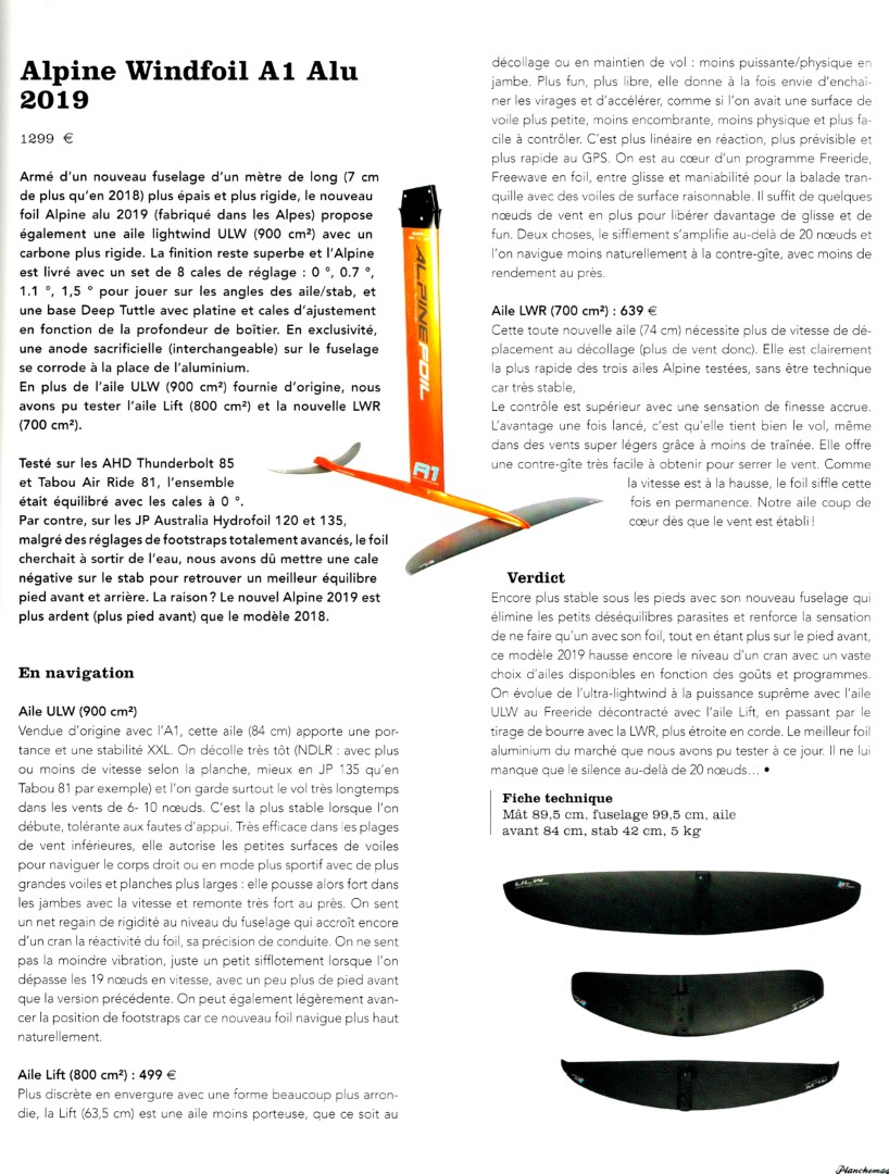 Windfoil AlpineFoil A1 Carbon 2019