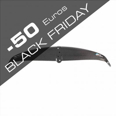 Black friday aile kitefoil race 400 wing winglets full carbon mate gloss 1